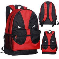 Cosplay Fashion Deadpool Face Mesh Pocket Backpack School Book Bag Shoulder Bag