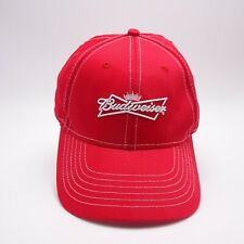 Budweiser Beer hat - Red Adjustable Back Strap Baseball cap 9bb526bc2