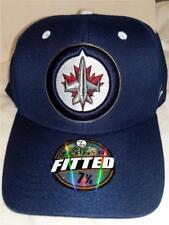 New Winnipeg Jets Mens Adult Size 7 1/4 Blue Zephyr Fitted Cap Hat