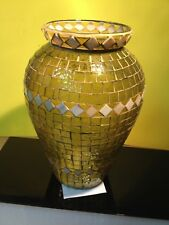 Beautiful Mosaic Stained Glass Vase C.A.I Design