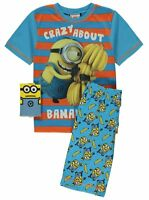 Boys Despicable Me Minions Pyjamas Crazy About Bananas Short PJS 6-9 Years NEW