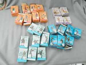 Vintage Marx Warriors Of The World Soldiers & Vikings In Boxes Lot Of 22