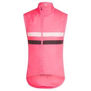 NEW Rapha Men's Cycling Brevet Gilet Vest Small S Cycling RCC Pink Black Hi Vis