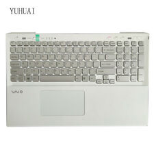 For Sony VAIO SVS15 SVS151A11L US With backlight keyboard Silver Palmrest Cover