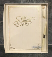 VINTAGE Treasure Masters Guest Book Embossed Leatherette DEAD STOCK NOSWT