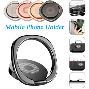 New Ultra Thin 360 Rotation Table Magnetic Phone Holder Mount Finger Ring Stand