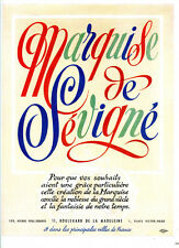 1948 - MARQUISE DE SEVIGNE Chocolates & Candies - French Ad