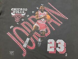 VTG 90s 1992 Chicago Bulls #23 Michael Jordan Single Stitch T Shirt Black Large