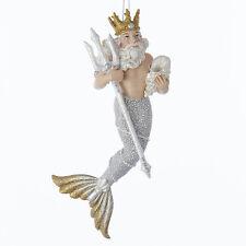 "KURT S. ADLER 7"" UNDER THE SEA KING NEPTUNE NAUTICAL COASTAL CHRISTMAS ORNAMENT"