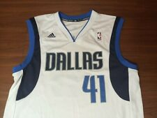 Dirk Nowitzki Dallas Mavericks #41 Adidas Authentics Basketball Jersey White