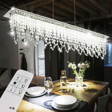 Luxus LED 24 Watt Hänge Lampe Kristall Flur Pendel Leuchte Fernbedienung DIMMER
