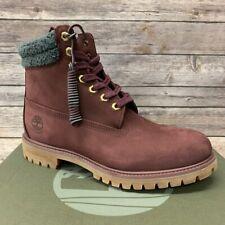Timberland Men's Premium 6 Inch Burugndy Boots