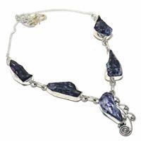"Tanzanite Rough Gemstone Handmade Ethnic Jewelry Necklace 18"" VJ-9888"