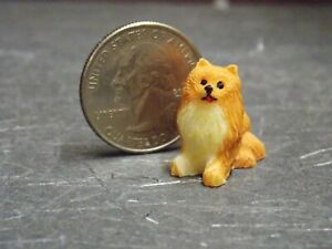 Dollhouse Miniature Dog Puppy Pomeranian 1:12 one inch scale G94 Dollys Gallery