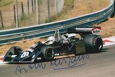 Arturo Merzario Firmato a Mano 12x8 photo formula 1 f1 3.