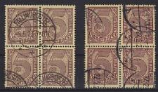 DR Dienst Mi Nr. 33 2x 4er Block, gest., Dienstmarken Deutsches Reich 1920, used