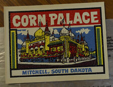ORIGINAL VINTAGE TRAVEL DECAL CORN PALACE MITCHELL SOUTH DAKOTA AUTO HOT ROD OLD