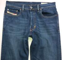 Mens DIESEL Kuratt Jeans W30 L32 Blue Straight Leg Wash 0R83L