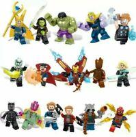 LOTE 16 FIGURAS MARVEL SUPER HEROES - AVENGERS PACK ESTILO LEGO COMPATIBLES