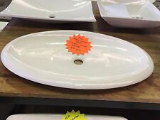 Ex-Display ADP Sample Above Counter Oval Basin 710 x 460mm Ceramic White