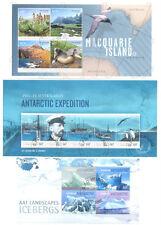 Australian Antarctic Territory 3 Précautions min feuilles collection CTO-Fine Used
