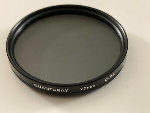Quantaray 72 mm C P L polarizing filter (circular) - Made in Japan