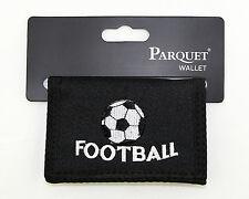 Soccer Football Mens Wallet Tri-fold Black Zipper Pocket Novelty Sports Gift New