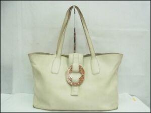 Auth WL02 BVLGARI Doppio Tondo Tote bag Shoulder bag from Japan