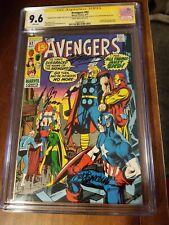 Avengers 92 cgc ss 5x 9.6 white pgs Lee, Adams, Buscema, Thomas, Palmer 1971