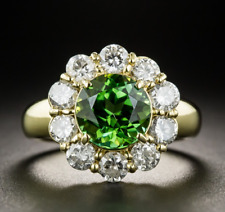 925 Silver Yellow Gold Plated Emerald Gemstone Wedding Flower Ring Wholesale