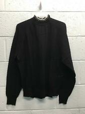 Women's Maje Sweater Size 2 Black White Trim Wool Polyamide