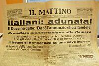 ITALIANI ADUNATA ! - IL MATTINO 5 MAGGIO 1936 giornale originale