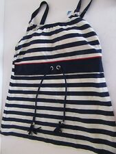 AMOENA SWIMWEAR 70703  MELBOURNE TANKINI TOP NAVY/WHITE STRIPE SIZE 32B NEW