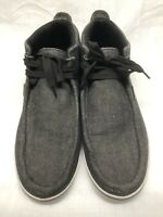 Lugz Men's Charcoal Gray Chukka Boots Lace Up Fabric Size 13M/47.5