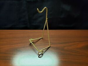 Bard's Decorative Ornament Display Stand - Gold Metal Rope