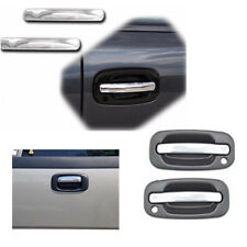 For 99-06 GM Pickup Silverado Sierra Chrome SS Door Handle Tail Level Cover 3PCS