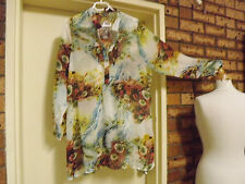 Brand New With Tag Katies Longline Floral Sheer Top sz 16 RRP $59.95
