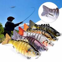 7 Segment Swimbait Lures Fishing Bait Fish Lure Crankbait Hooks 10cm Stylish