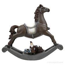 Nostalgie Schaukelpferd Pferd Deko Weihnachten braun Vintage Shabby Retro Stil