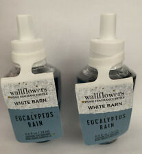 2 BATH & BODY WORKS WALLFLOWERS EUCALYPTUS RAIN HOME FRAGRANCE REFILL NEW!