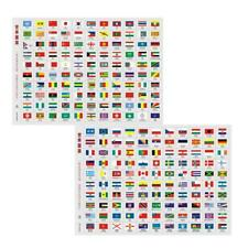 World countries flag stickers-travel/coin/stam p-Single flag size 2*2.5cm