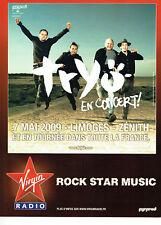 Publicité Advertising 058  2009   Rock Star Music concert Tryo  Zenith