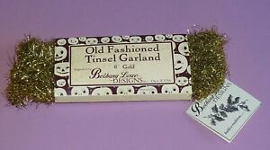 Vintage Bethany Lowe Old Fashion Tinsel Gold 6' Halloween Christmas