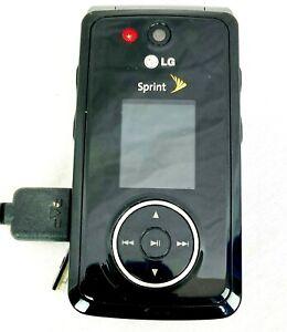 LG Muziq LX570 - Black (Sprint) Cellular Phone with Charge Cord