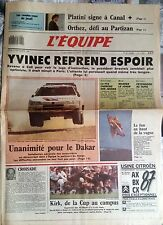 L'Equipe Journal 10/12/1987; Affaire Yvinec/ Orthez/ Orthez/ Mahrer/ Feyenoord