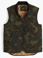 NWT J Crew Down Vest in Camo with Eco-Friendly Primaloft Sz S #G9875 $148