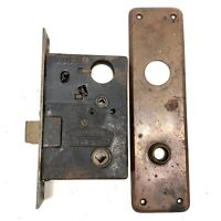 Antique Vtg Sargent & Co. Easy Spring Mortise Lock w/ 1 Cover Plate / Entry Door