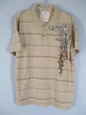Aeropostale Men's Size L 100% Cotton Short Sleeve Striped Polo Shirt