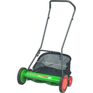 20in Walk Behind Reel Mower Manual Push Power Grass Catcher Rust Resistant Deck