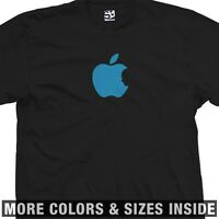 Steve Jobs Tribute T-Shirt - Apple Silhouette Bite In Memory -All Sizes & Colors